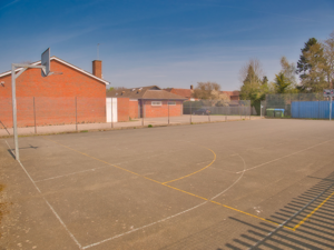 basket ball court and additional parking